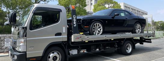 積載車・代車も完備!近県のお引き取りもお気軽にご相談下さい!